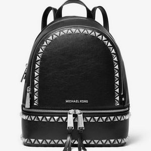 Michael Kors Rhea Studded MD Backpack Black
